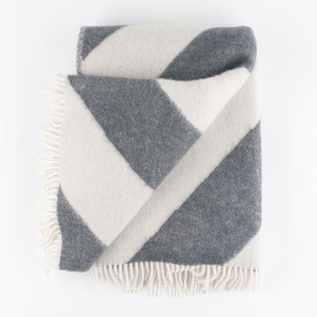 FORESTRY WOOL New Zealand Wool Mina Blanket - New Grey