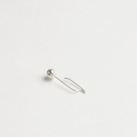 CINQ Single Sterling Silver Maquette Ear Drop Earring