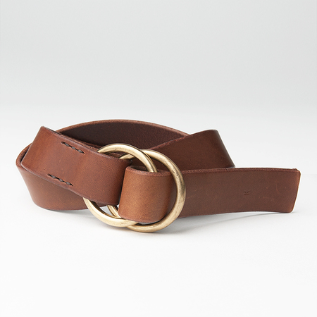 KIKA NY Double O-Ring with 1 3/8 Width Belt in Brown