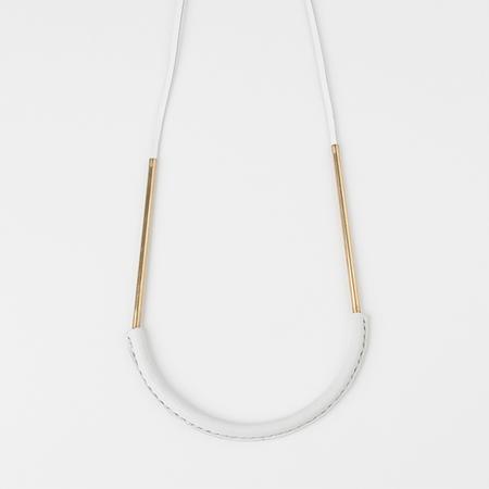 CRESCIONI Bare Circuit Necklace in White