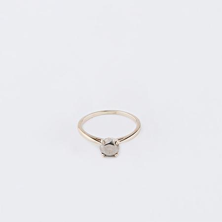 MOCIUN Fake Diamond Ring Sterling Silver Stone in 14K Yellow Gold Setting