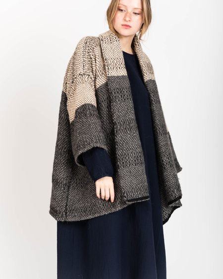 Atelier Delphine Haori Handwoven Coat - Bicolore