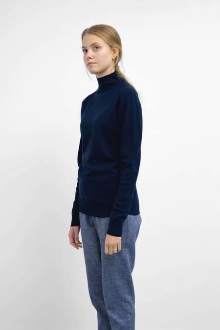 Sunspel Long Sleeve Funnel Neck Sweater