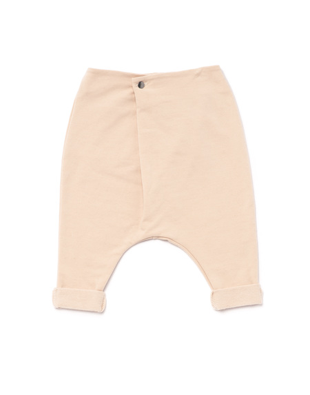 OMAMImini Baby drop crotch terry trousers w/ front fold dusty pink