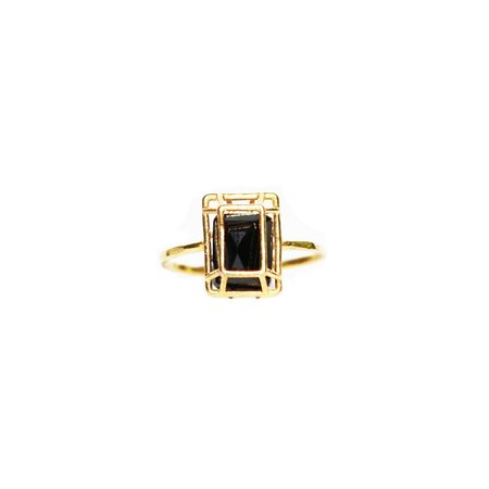 White Feather Designs - Emerald Cut Ring Spinel