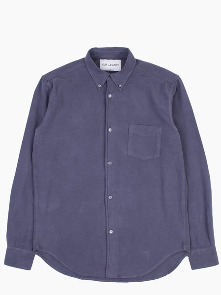 Our Legacy 1950's Shirt Graphite Solid Ultimate Flannel