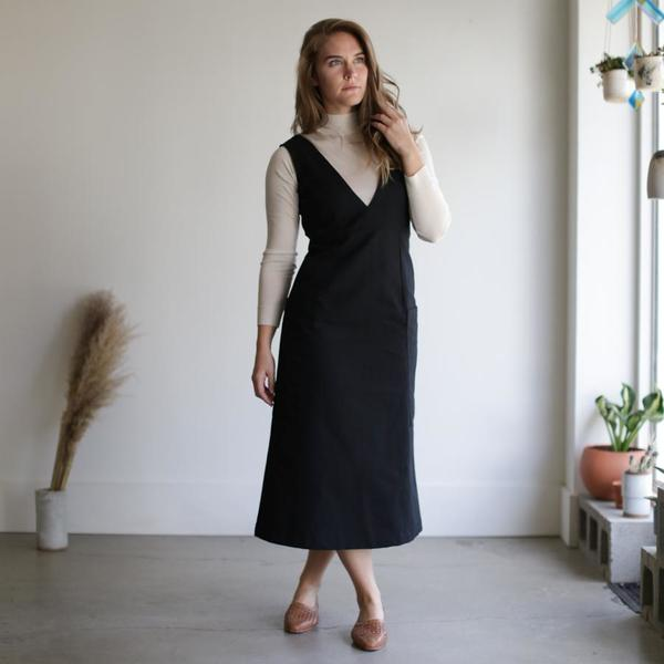 Sunja Link Jumper Dress - Cotton Canvas