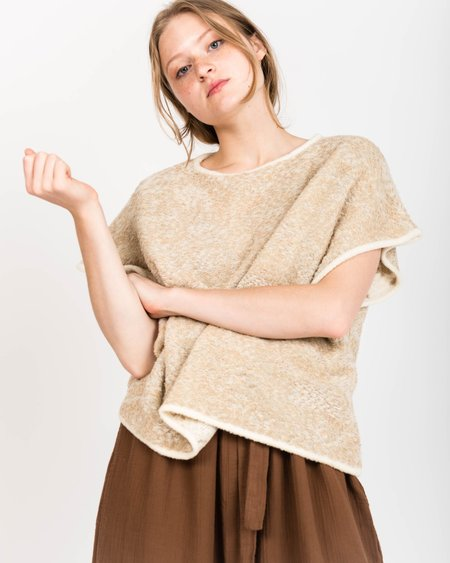 Revisited Matters Nomad Sleeveless Sweater in Oat Melange