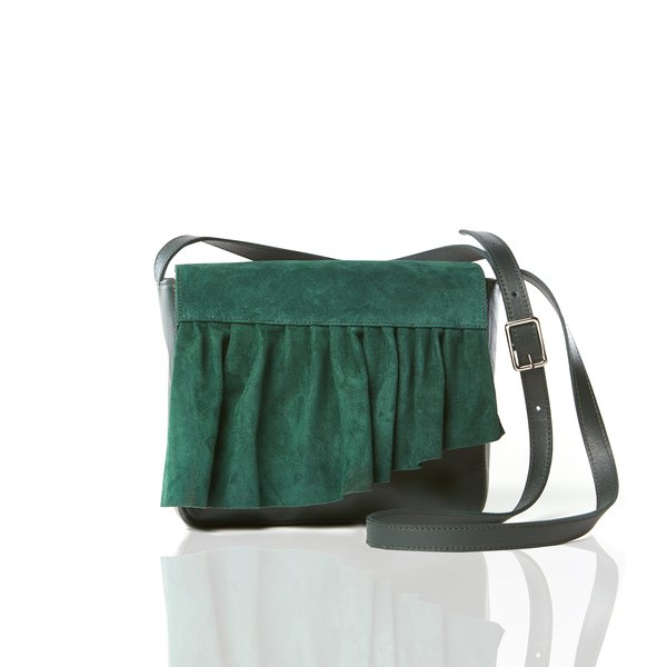 Marie Turnor The Ruffle Crossbody Mini - Forest