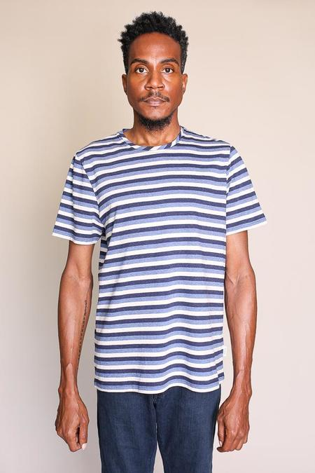 Oliver Spencer Conduit Tee in Benue Navy Multi