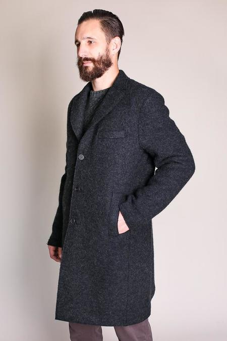 Harris Wharf London Boxy Coat in Anthracite