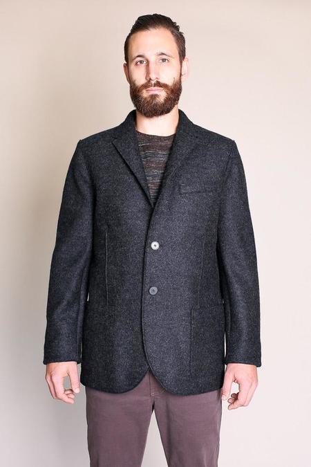 Harris Wharf London Pressed Wool Blazer in Anthracite