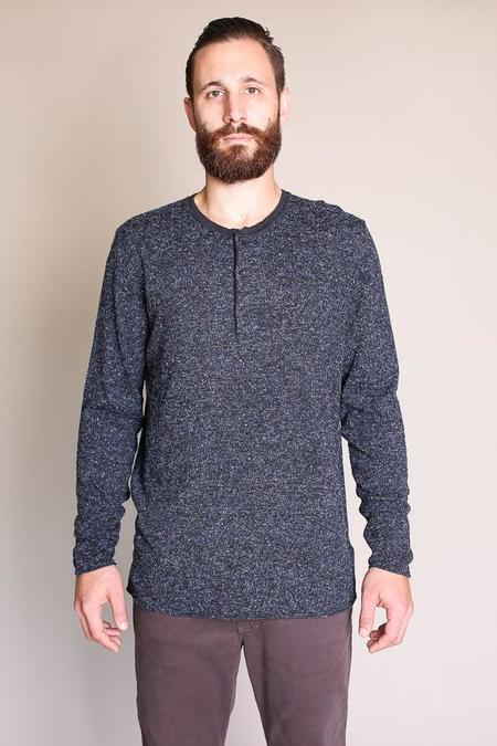 Billy Reid Speckled Henley in Navy