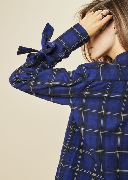 Lareida Salimar Bow-Cuff Flannel Shirt