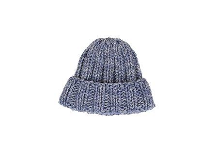 Clyde Fold Knit Hat  - Denim Blue