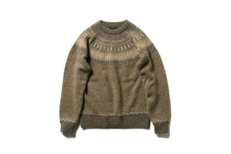 Beams + Snow Pattern Jacquard Knit