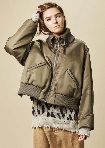 Hache Fold-Collar Bomber Jacket