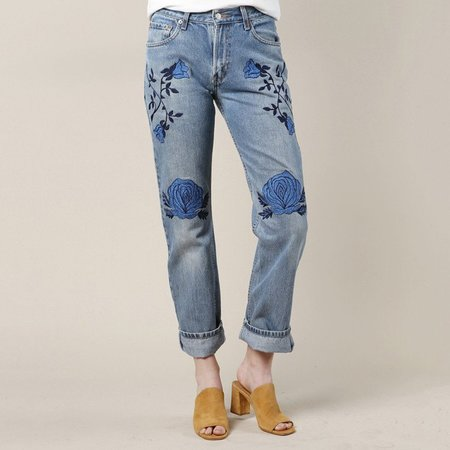Bliss and Mischief Conjure Flower Denim