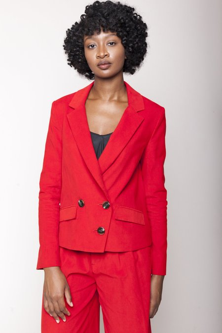 Christine Alcalay Double Breasted Jacket - Red