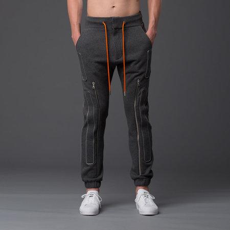 N-p-Elliott Interstellar Slim Zipper Jogger - Grey