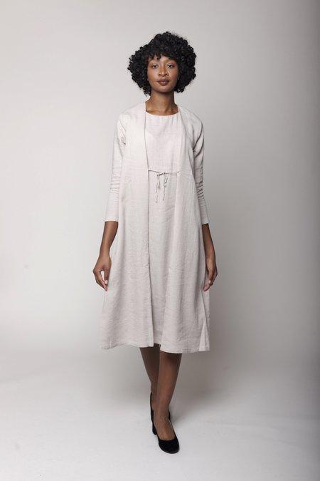 Evam Eva Wool Linen Dress - Grege