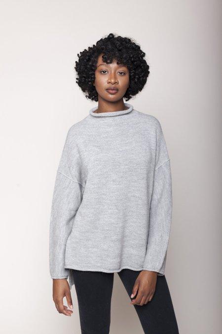 Lauren Manoogian Oversized Rollneck Sweater - Light Grey