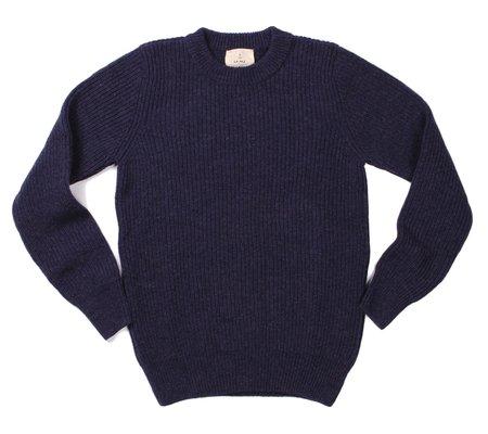 La Paz Teixeira Shetland Wool Sweater - Blue Mesc