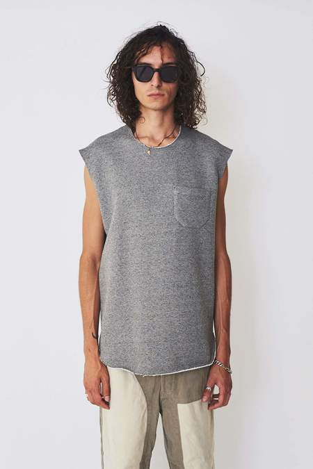 Assembly New York Cotton Terry Muscle Tee - Grey