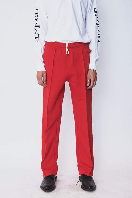 Assembly New York Cotton Pintuck Sweat Pant - Red