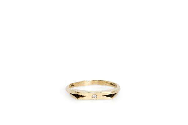 Mercurial NYC Chevron Ring