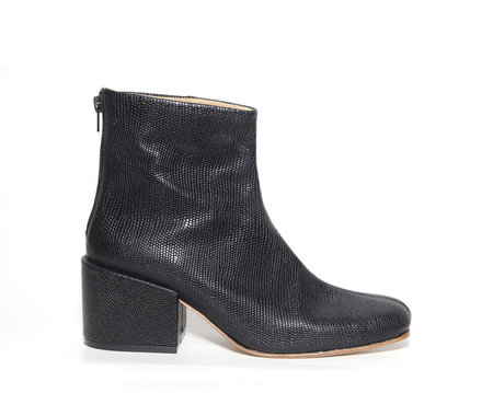 Zou Xou Beia Boot in Black Embossed Snake