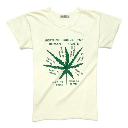 Fortune Goods Human Rights Tee - Pearl/Green