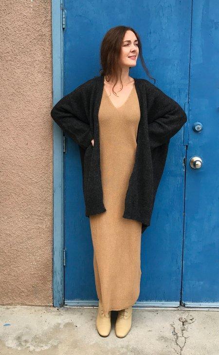 Lauren Manoogian New Wide Cardigan - Charcoal and Ecru