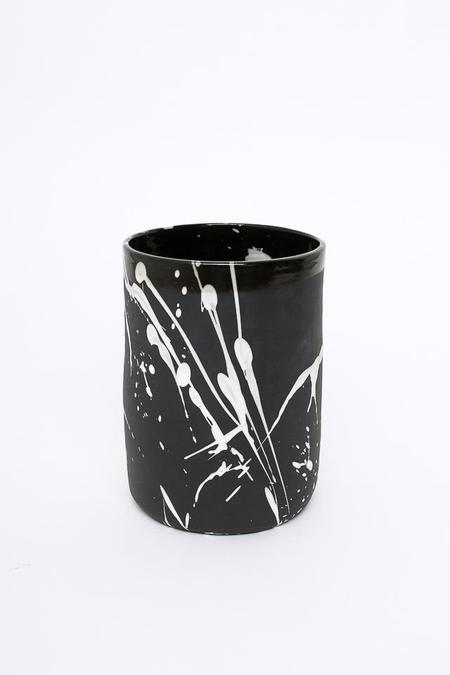 BTW Ceramics Torrent Container in Black/White