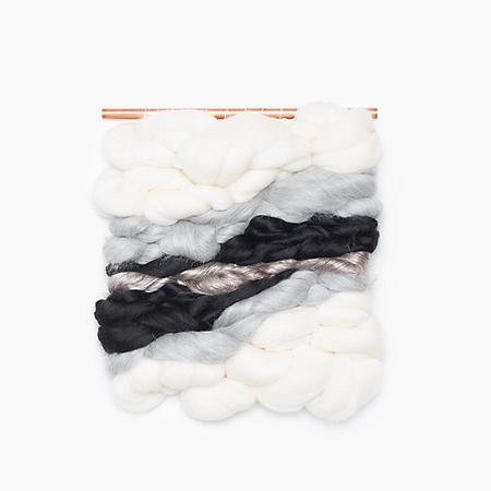 Poketo Meghan Shimek Wall Hanging in Gray