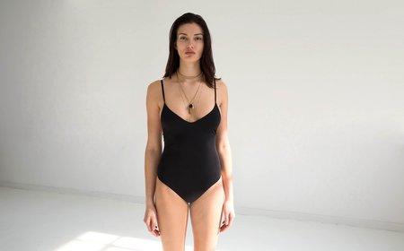 Land of Women Low Back Thong Bodysuit - Black