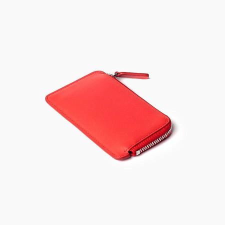 Poketo Zipper Card Wallet in Red