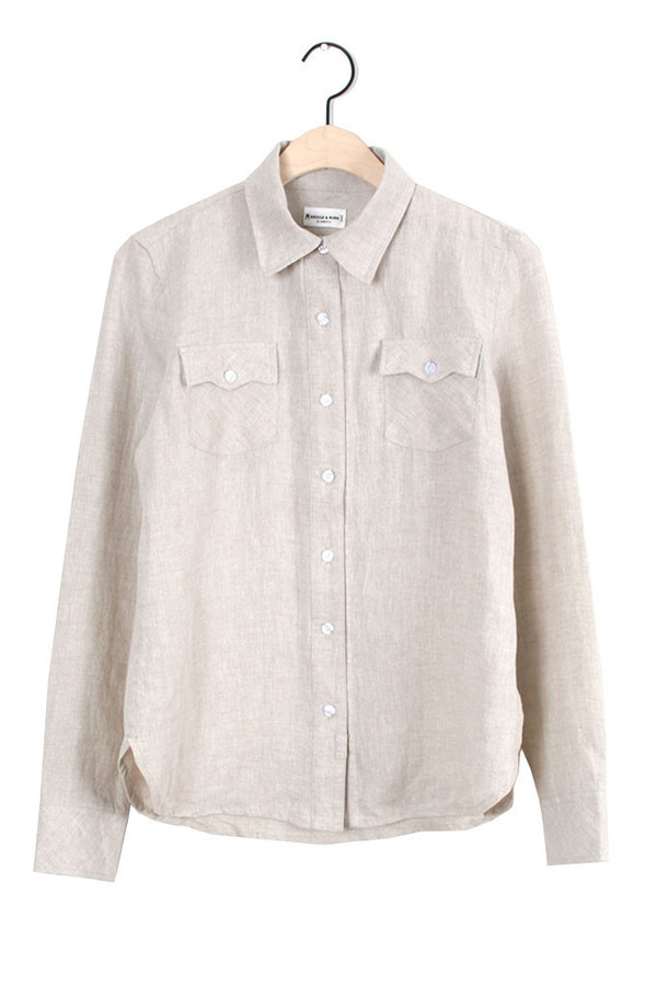 Bowie Natural Boyfriend-fit Button Up