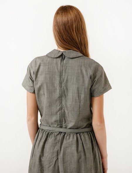 Comme des Garcons Comme des Garcons Womens Plaid Short Sleeve Dress