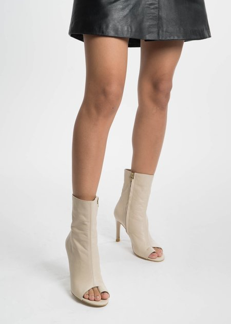 Situationist Open Toe Ankle Boots - Beige