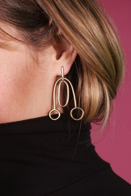 Lumafina Calder Earrings - Silver or Bronze