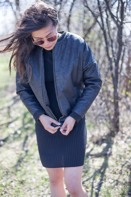 Valérie Dumaine Raven Jacket - Black Vegan Leather