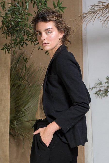 Heidi Merrick Basel Blazer - Black Crepe