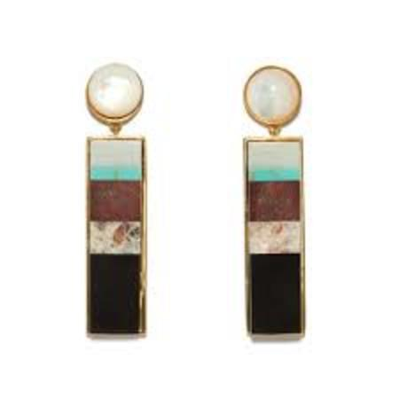 Lizzie Fortunato Regal Column Earrings in Jasper