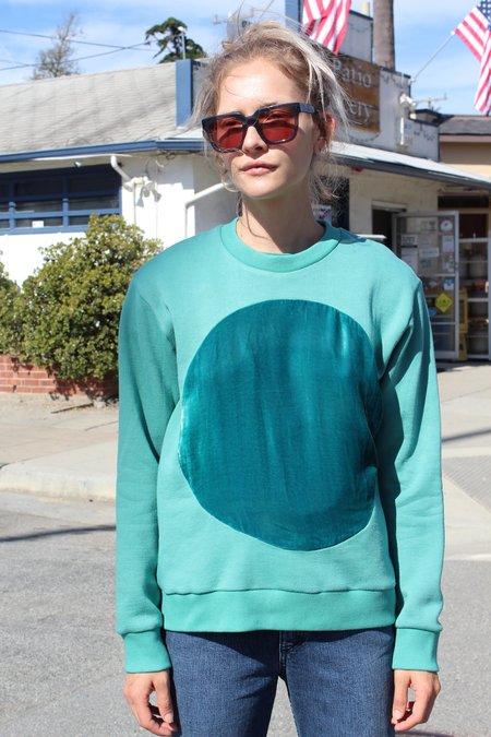 Correll Correll Velvet Circle Sweatshirt - Turquoise