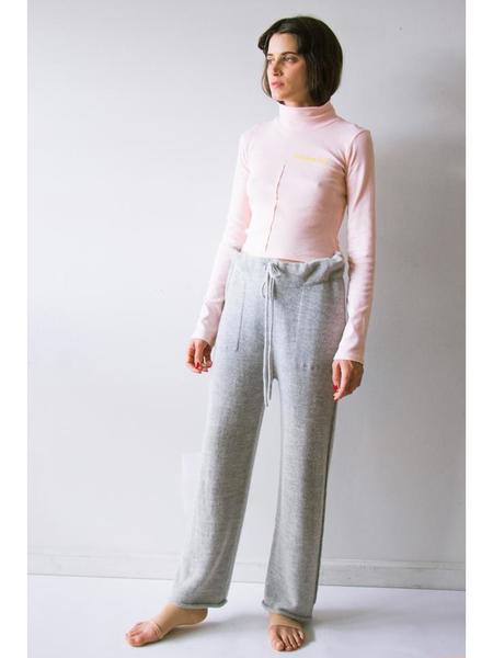 Lauren Manoogian Straight Pants - Light Grey