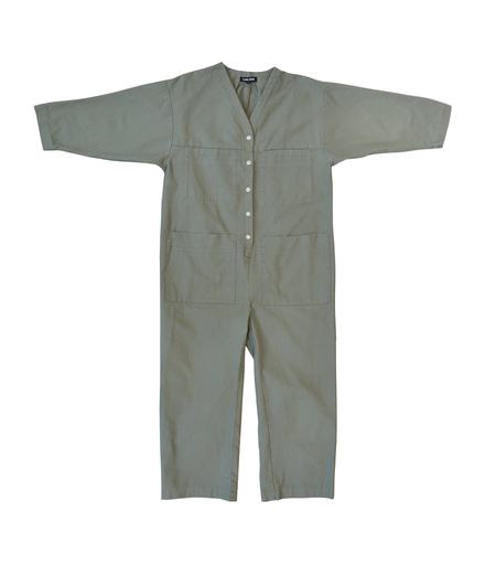 Garmentory Exclusive | Unisex Ilana Kohn Tuck Coverall - Sage Canvas