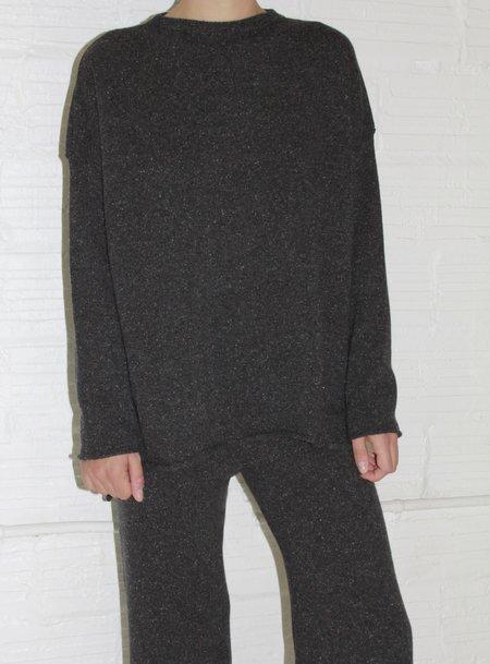 Micaela Greg Hi Lo Sweater - Speckle Black