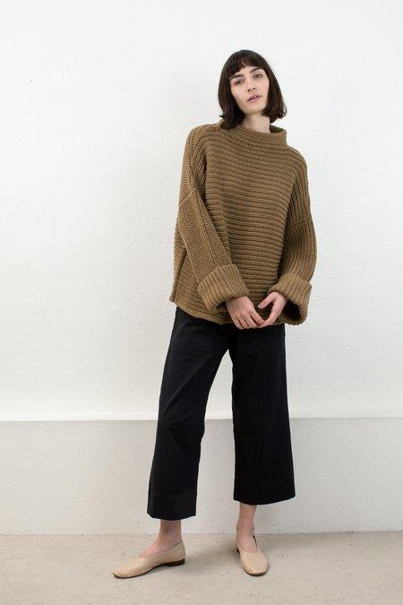 Micaela Greg Caramel Parallel Sweater