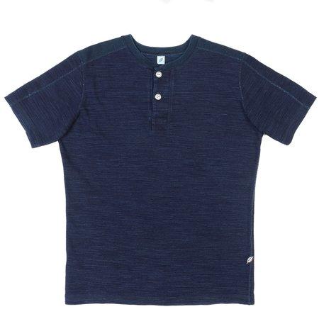 Pure Blue Japan PBJ Short Sleeve Henley—Indigo